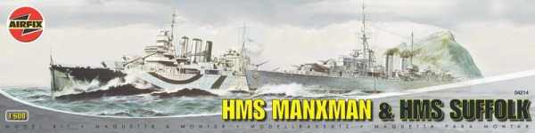 HMS Manxman and HMS Suffolk