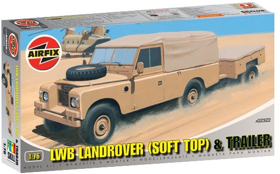 LWB Landrover (Soft Top) and Trailer