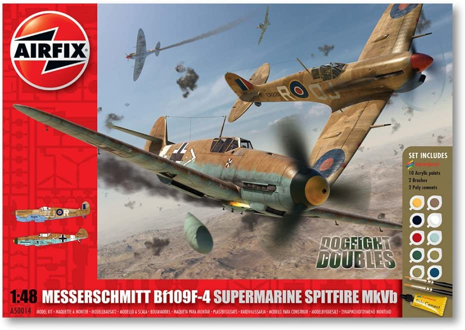 Supermarine Spitfire VB and Messerschmitt Bf109F-4 Dogfight