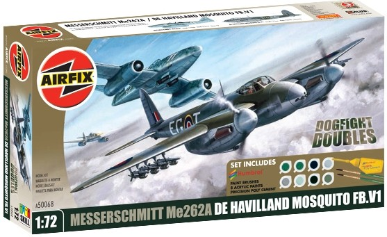 Messerschmitt Me262A and De Havilland Mosquito Dogfight Double