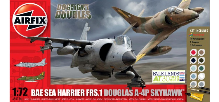 Douglas A-4 Skyhawk and BAe Sea Harrier FRS-1 Dogfight Double