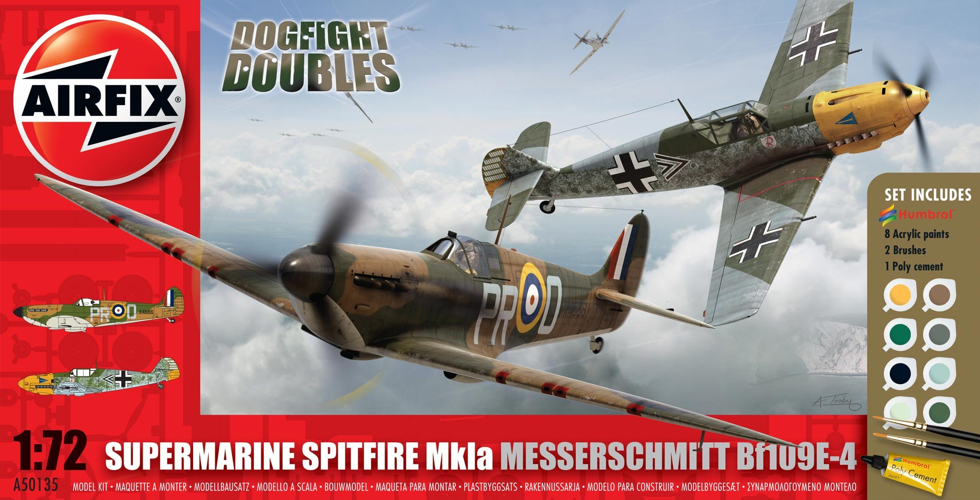 Supermarine Spitfire 1a and Messerschmitt Df109E Dogfight Double