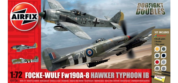 Focke Wulf Fw190A-8 and Hawker Typhoon Ib