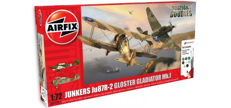 Junkers Ju87R-2 Stuka Gloster Gladiator Mk.I Dogfight Doubles